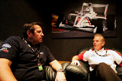 Mike Bewsey Comma Oils talks with Jonathan Palmer Motorsport Vision Chief Executive