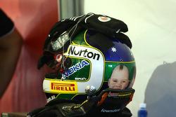 Helmet of Craig Lowndes