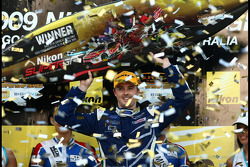 Podium: Mark Winterbottom takes victory for Ford Performance Racing