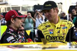 Jeff Gordon, Hendrick Motorsports Chevrolet and Clint Bowyer, Richard Childress Racing Chevrolet