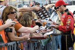 Martin Truex Jr., Earnhardt Ganassi Racing Chevrolet signs autographs