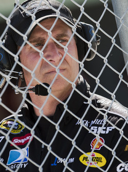 Richard Childress Racing Chevrolet crew watches practice