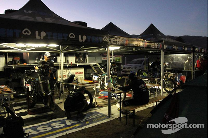 Team Casteu au garage