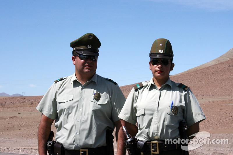 Miembros de la fuerza local en Chile