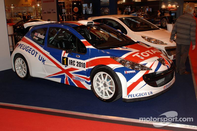 Chris Meekes winnende Peugeot IRC Car