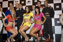 Race winners of the charity kart race