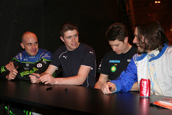 Drivers chat before charity Kart event