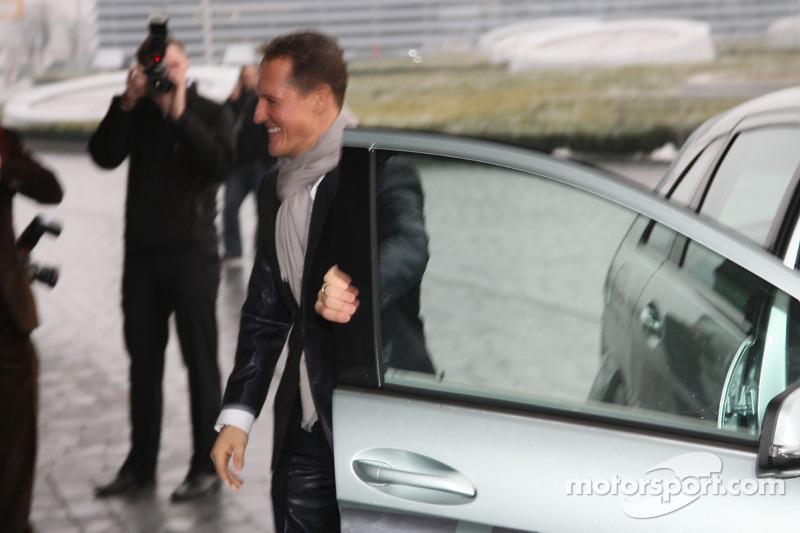 Michael Schumacher arrive