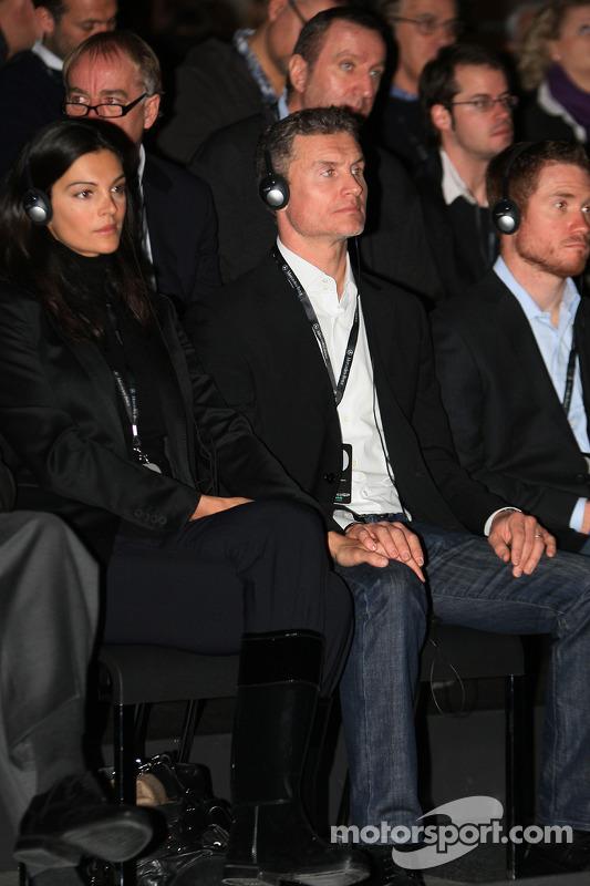David Coulthard et Karen Minier