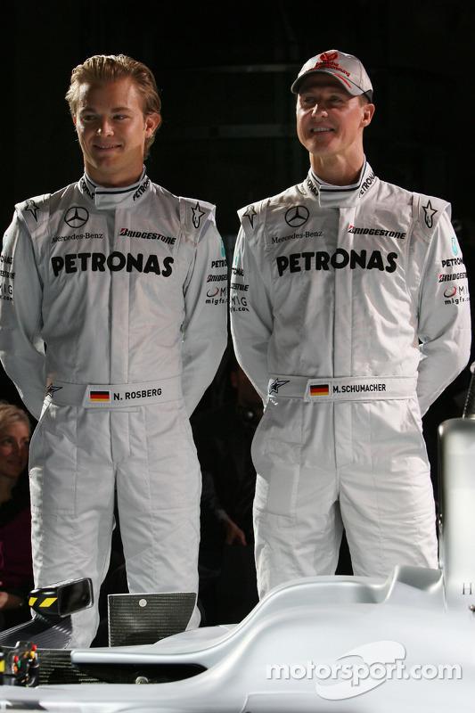 Nico Rosberg et Michael Schumacher