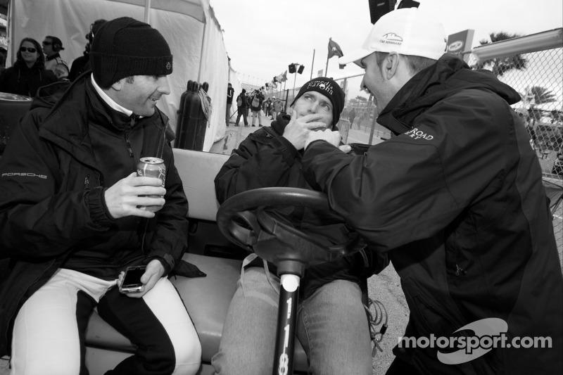 Romain Dumas, Bobby Labonte and Timo Bernhard