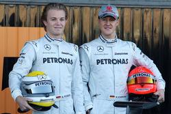 Nico Rosberg, Mercedes GP, Michael Schumacher, Mercedes GP