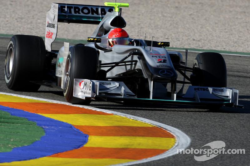 Michael Schumacher bei den ersten Runden