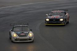 #48 Miller Barrett Racing Porsche GT3: Luke Hines, Peter Ludwig, Bryce Miller, Kevin Roush, #97 Stevenson Motorsports Camaro GT.R: Matt Bell, Mike Borkowski, Brady Refenning, Gunter Schaldach
