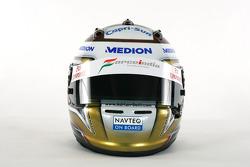 El casco de Adrian Sutil Force India F1