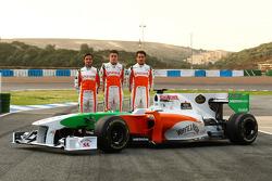Vitantonio Liuzzi, Force India F1 con Paul di Resta, Test Driver, Force India F1 y Adrian Sutil, Force India F1