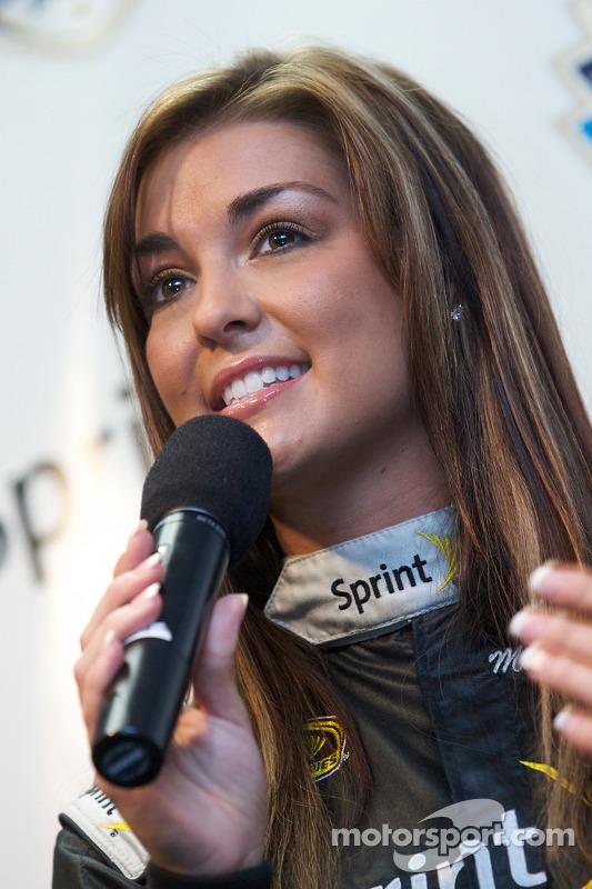 Miss Sprint Cup persconferentie: Paige Duke
