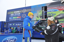 Jari-Matti Latvala en Miikka Anttila, Ford Focus RS WRC08, BP Ford Abu Dhabi World Rally Team