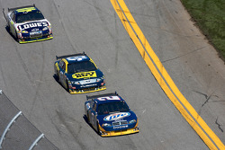Kurt Busch, Penske Racing Dodge, A.J. Allmendinger, Richard Petty Motorsports Ford and Jimmie Johnson, Hendrick Motorsports Chevrolet