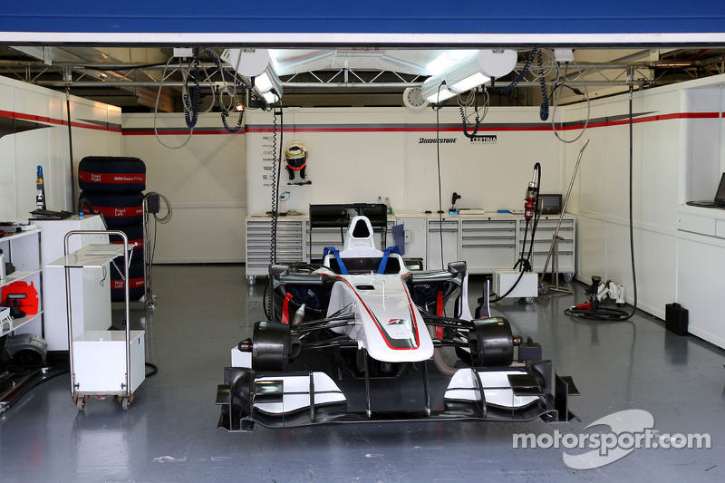 The Empty Garage Of The Bmw Sauber F1 Team At Jerez