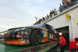 Crash: wagen van Denny Hamlin, Joe Gibbs Racing Toyota