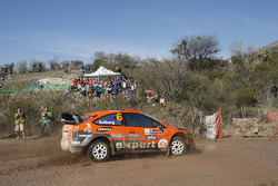 Henning Solberg en Ilka Minor, Ford Focus RS WRC 08, Stobart VK M-Sport Ford Rally Team