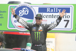 Podium: Ken Block, Ford Focus WRC 08, Monster World Rally Team