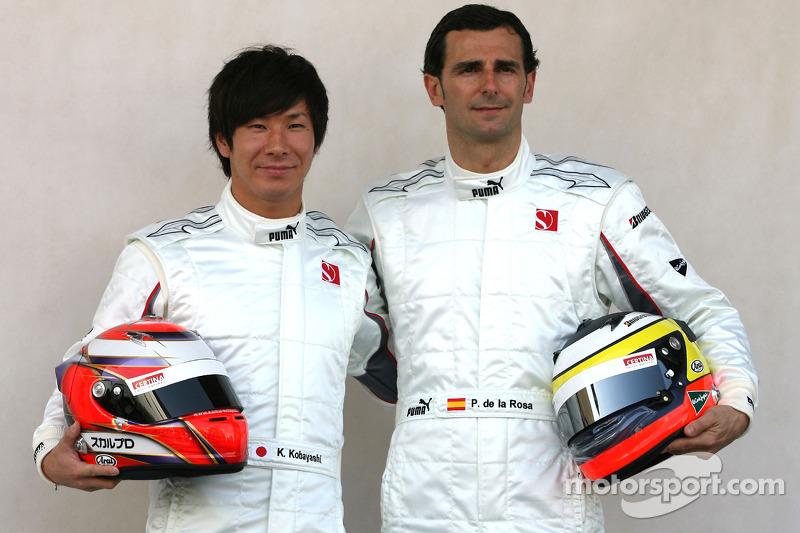 Kamui Kobayashi, BMW Sauber F1 Team et Pedro de la Rosa, BMW Sauber F1 Team