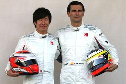 Kamui Kobayashi, BMW Sauber F1 Team and Pedro de la Rosa, BMW Sauber F1 Team