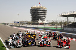 The 2010 drivers and cars