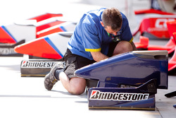 Super Nova Racing mechanic at work