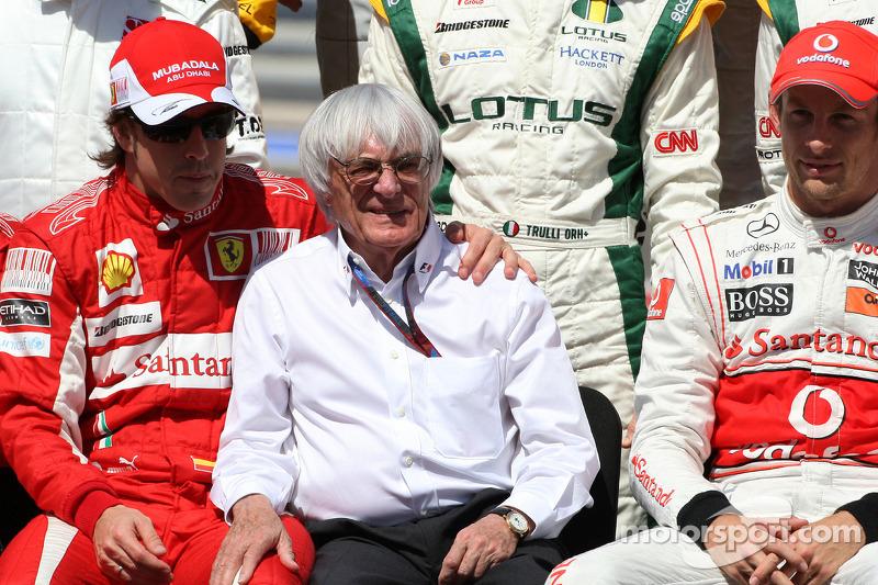 Fernando Alonso, Scuderia Ferrari, Bernie Ecclestone, Jenson Button, McLaren Mercedes
