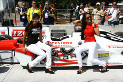 Lovely girls with the IndyCar two seaters