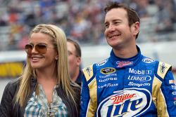 Kurt Busch, Penske Racing Dodge with wife Eva