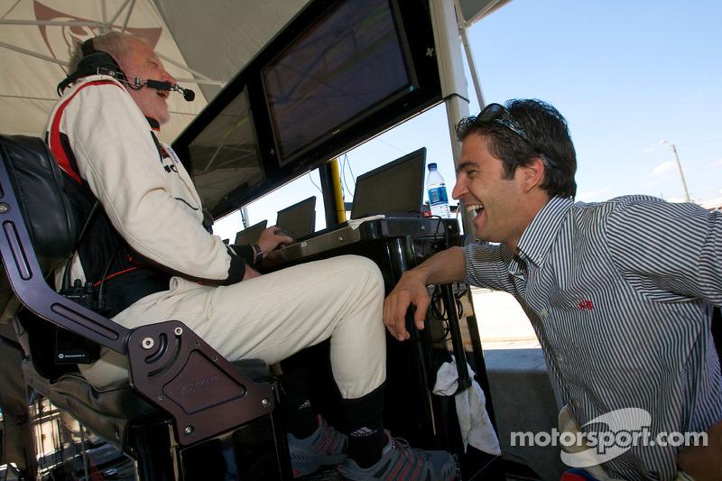 Porsche racing ingenieur Roland Kussmaul en Lucas Luhr