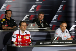 Christian Horner, Red Bull Racing, Sporting Director, Stefano Domenicali Ferrari General Director, Ross Brawn Team Principal, Mercedes GP, Martin Whitmarsh, McLaren, Chief Executive Officer