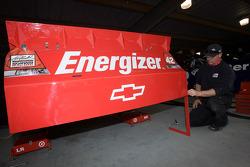 The new spolier on the car of Juan Pablo Montoya, Earnhardt Ganassi Racing Chevrolet