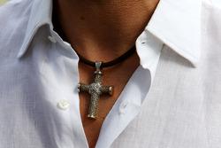Michael Schumacher, Mercedes GP, necklace detail