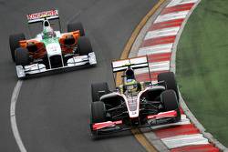 Bruno Senna, Hispania Racing F1 Team, Vitantonio Liuzzi, Force India F1 Team