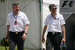 Ross Brawn Team Principal, Mercedes GP and Nick Fry, Chief Executive Officer, Mercedes GP