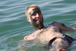 Jari-Matti Latvala enjoys the Dead Sea experience