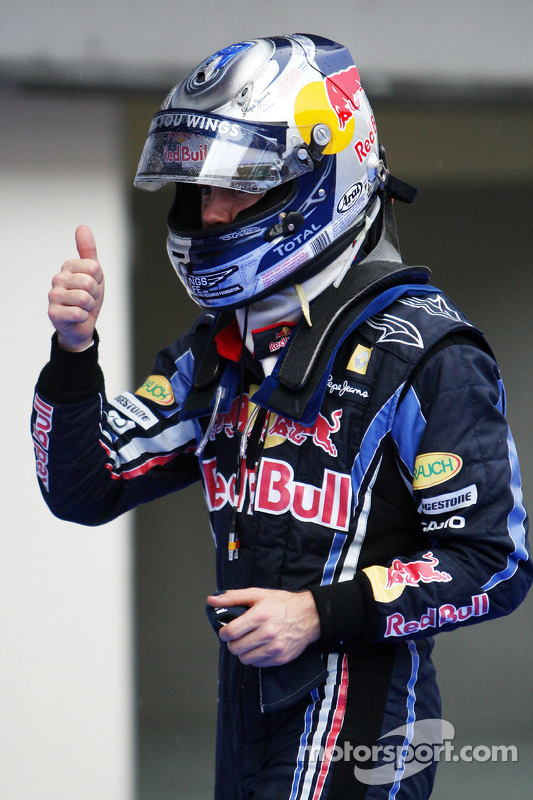Derde plaats Sebastian Vettel, Red Bull Racing