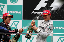 Podium: 1. Sebastian Vettel, Red Bull Racing; 3. Nico Rosberg, Mercedes GP