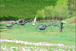 The infield ant sculpture