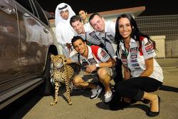 Randy De Puniet, LCR Honda MotoGP with a cheetah