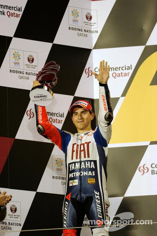 Podium: 2de Jorge Lorenzo, Fiat Yamaha Team