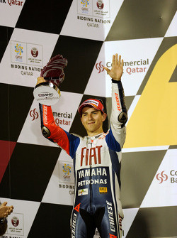 Podium: seconde place Jorge Lorenzo, Fiat Yamaha Team