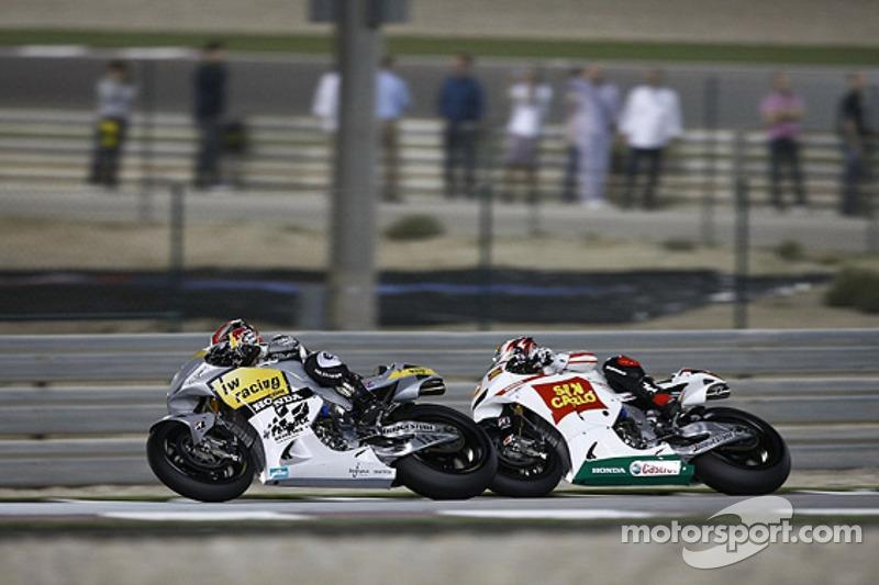 Hiroshi Aoyama, Interwetten Honda MotoGP; Marco Simoncelli, San Carlo Honda Gresini