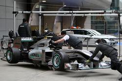 The car of Nico Rosberg, Mercedes GP