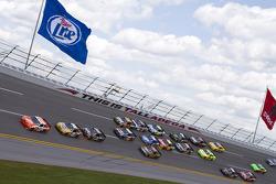 Joey Logano, Joe Gibbs Racing Toyota leads the field